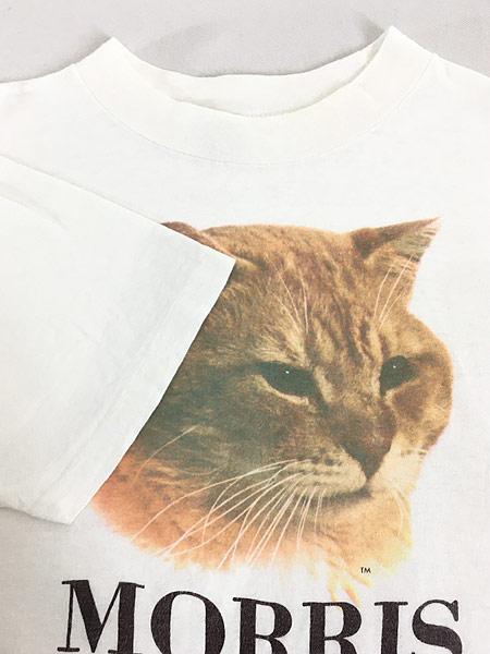 [4] 古着 80s MORRIS 猫 ネコ フォト ピクチャー アニマル Tシャツ XL 古着