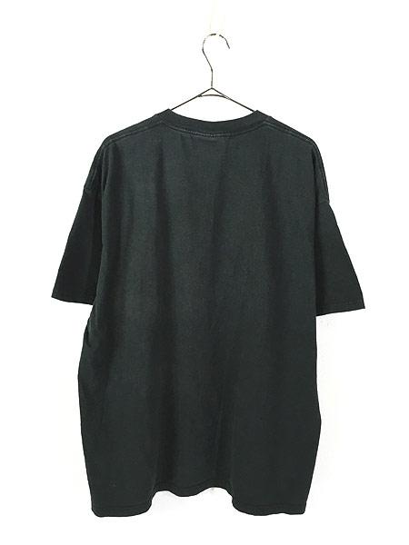 [3] 古着 90s 猫 ネコ アニマル シルエット Tシャツ 黒 XL 古着