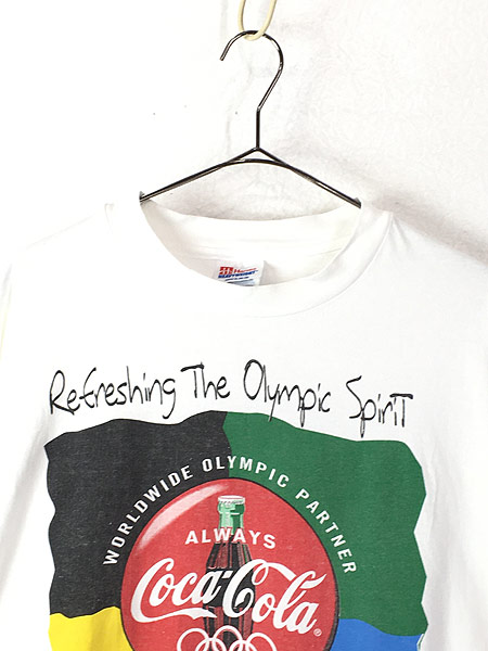 [2] 古着 90s Coca Cola 「OLYMPIC PARTNER」 コーラ BIG ロゴ Tシャツ XL 古着