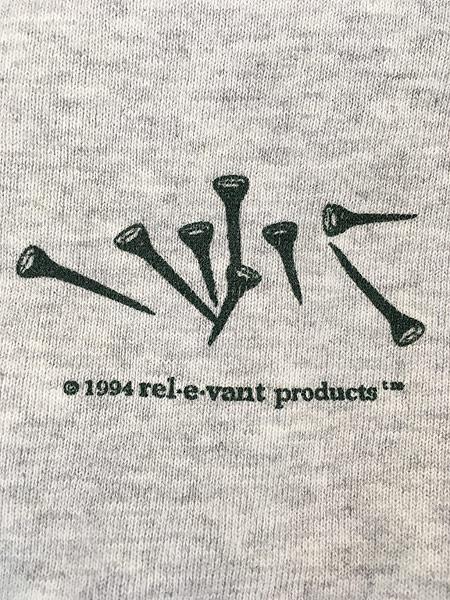 [7] 古着 90s USA製 rel e vant products ゴルフ グッズ アート スウェット XL 古着