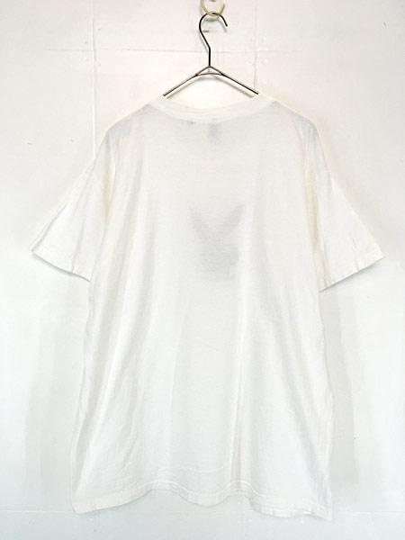 [2] 古着 90s PLAY BOY プレイ ボーイ モノトーン ロゴ Tシャツ XL 古着