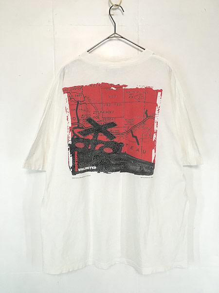 [2] 古着 90s USA製 Marlboro UNLIMITED 地図 マップ ポケット Tシャツ ポケT XL位 古着