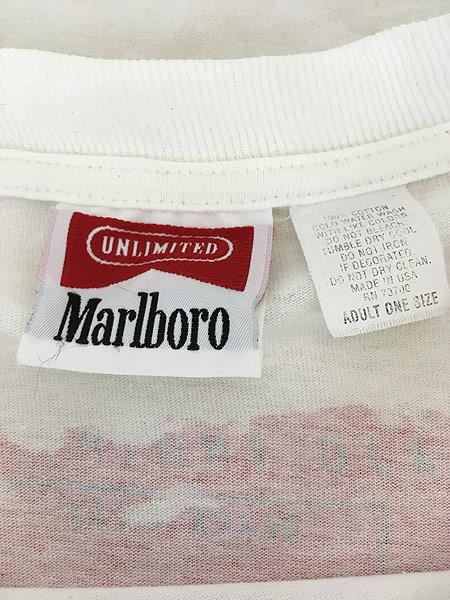 [4] 古着 90s USA製 Marlboro UNLIMITED 地図 マップ ポケット Tシャツ ポケT XL位 古着