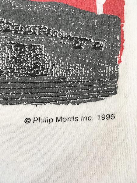 [5] 古着 90s USA製 Marlboro UNLIMITED 地図 マップ ポケット Tシャツ ポケT XL位 古着