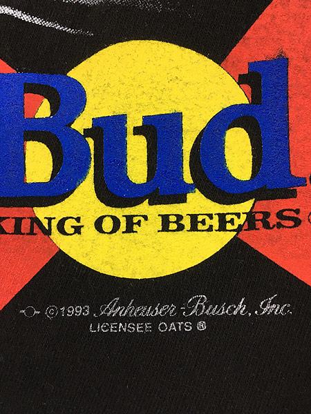 [5] 古着 90s USA製 Budweiser バドワイザー ビール ホッケー Tシャツ XL 古着