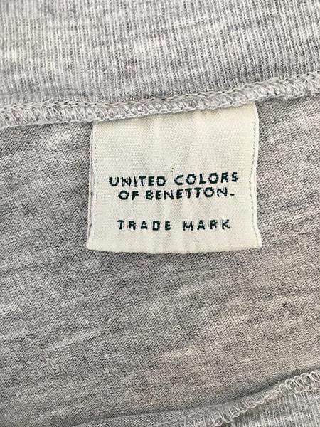 [4] 古着 90s UNITED COLORS OF BENETTON ベネトン ワード ロゴ Tシャツ XL位 古着