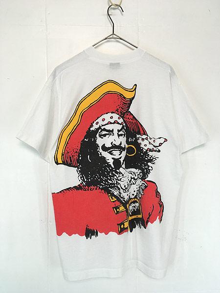 [2] 古着 90s USA製 Captain Morgan ラム リキュール アート Tシャツ XL 古着