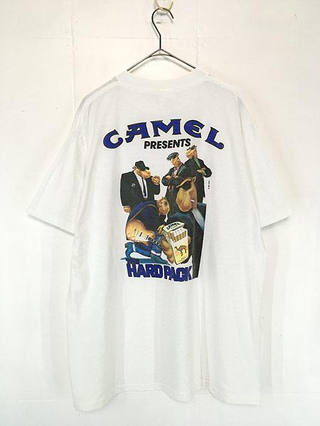 [2] 古着 90s USA製 CAMEL 「The Hard Pack」 キャメル ポケット Tシャツ ポケT XL 古着