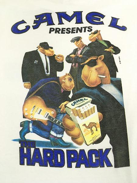 [4] 古着 90s USA製 CAMEL 「The Hard Pack」 キャメル ポケット Tシャツ ポケT XL 古着
