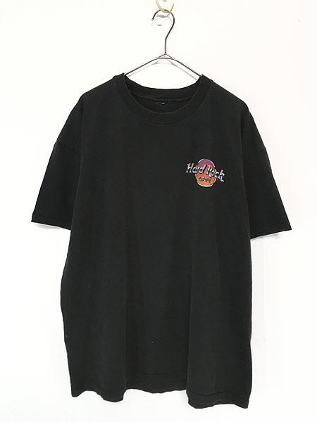 [1] 古着 90s Hard Rock Cafe 「LAS VEGAS」 BIGロゴ ハードロック Tシャツ XL位 古着