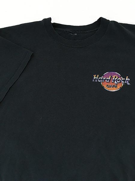 [3] 古着 90s Hard Rock Cafe 「LAS VEGAS」 BIGロゴ ハードロック Tシャツ XL位 古着
