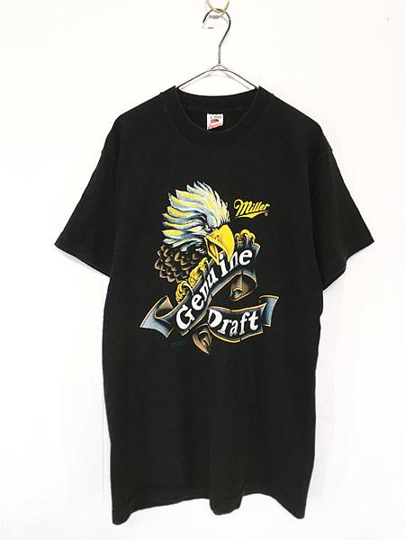 [1] 古着 90s USA製 Miller Beer ミラー ビール イーグル Tシャツ L 古着