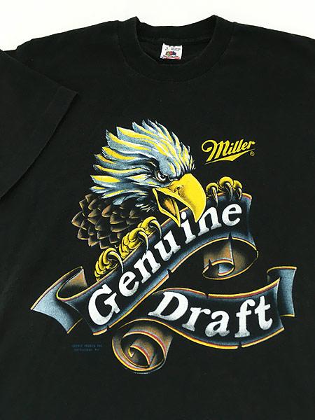 [3] 古着 90s USA製 Miller Beer ミラー ビール イーグル Tシャツ L 古着