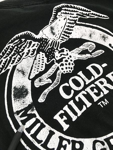 [5] 古着 90s USA製 Miller Beer ミラー ビール イーグル Tシャツ L 古着