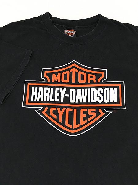 [3] 古着 90s USA製 HARLEY DAVIDSON シールド&バー モーター Tシャツ XL 古着