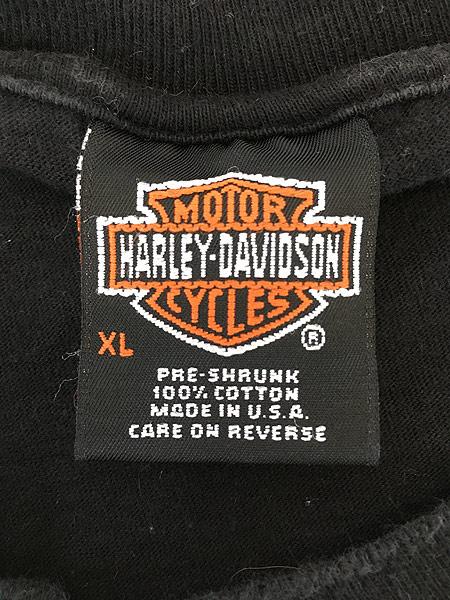 [4] 古着 90s USA製 HARLEY DAVIDSON シールド&バー モーター Tシャツ XL 古着