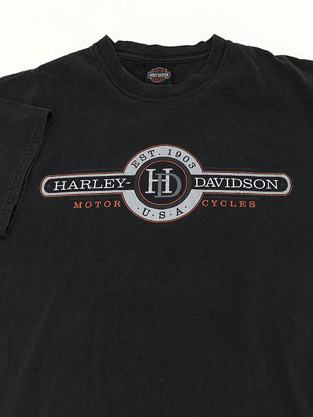 [3] 古着 00s USA製 HARLEY DAVIDSON 「WHITT'S」 エンブレム モーター Tシャツ L 古着