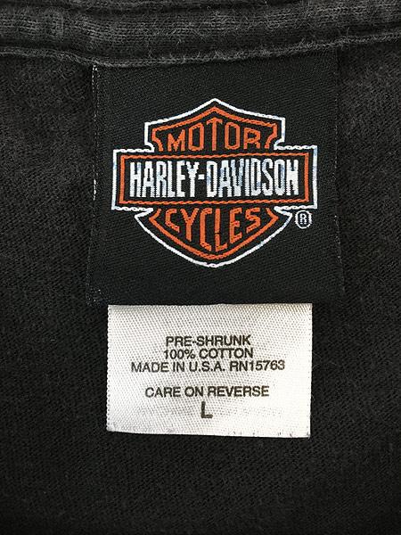 [4] 古着 00s USA製 HARLEY DAVIDSON 「WHITT'S」 エンブレム モーター Tシャツ L 古着