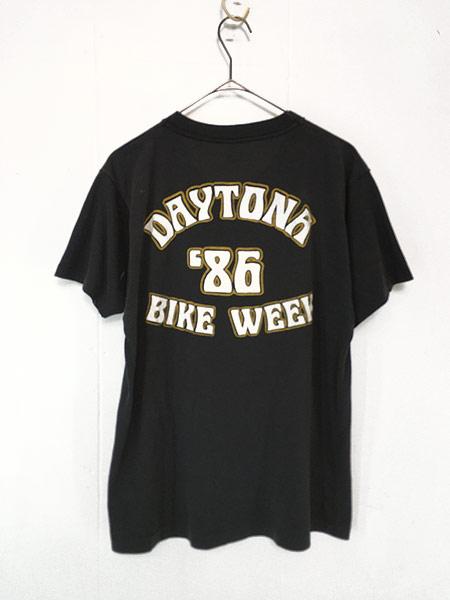 [2] 古着 80s USA製 HARLEY DAVIDSON 「DAYTONA」 イーグル ウィング Tシャツ L 古着