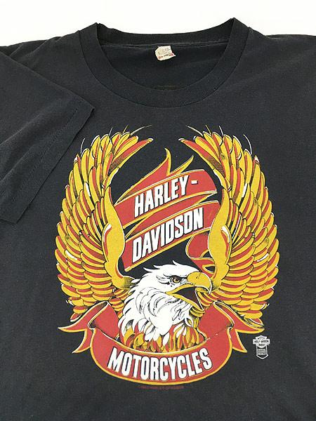 [3] 古着 80s USA製 HARLEY DAVIDSON 「DAYTONA」 イーグル ウィング Tシャツ L 古着