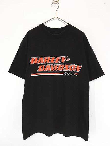 [1] 古着 90s HARLEY DAVIDSON 「Racing」 イーグル モーター Tシャツ L 古着