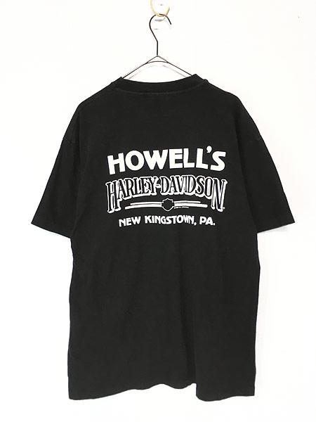 [2] 古着 90s USA製 HARLEY DAVIDSON 歴代 エンジン モーター Tシャツ L 古着