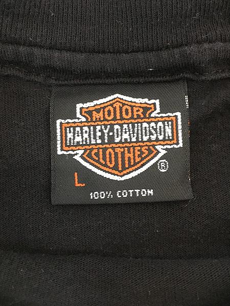 [4] 古着 90s USA製 HARLEY DAVIDSON 歴代 エンジン モーター Tシャツ L 古着