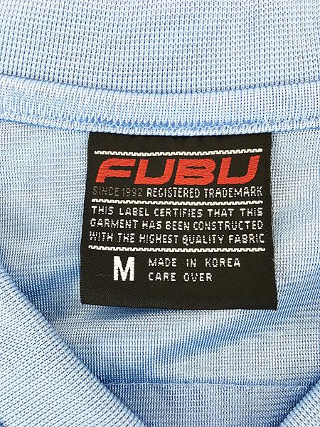 [5] 古着 90s FUBU 光沢 ナンバリング メッシュ フットボール Tシャツ XL位 古着