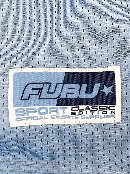 [6] 古着 90s FUBU 光沢 ナンバリング メッシュ フットボール Tシャツ XL位 古着
