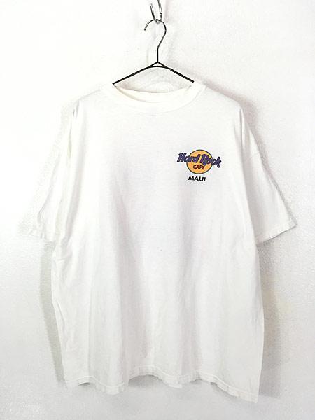 [1] 古着 90s Hard Rock Cafe 「MAUI」 サーフボード ハードロック Tシャツ XXL 古着