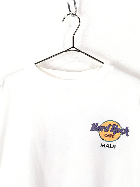 [2] 古着 90s Hard Rock Cafe 「MAUI」 サーフボード ハードロック Tシャツ XXL 古着