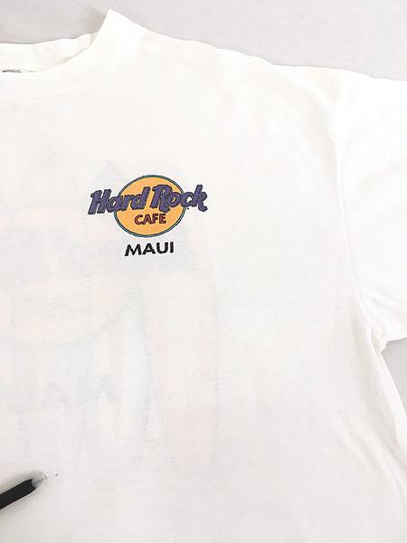 [5] 古着 90s Hard Rock Cafe 「MAUI」 サーフボード ハードロック Tシャツ XXL 古着
