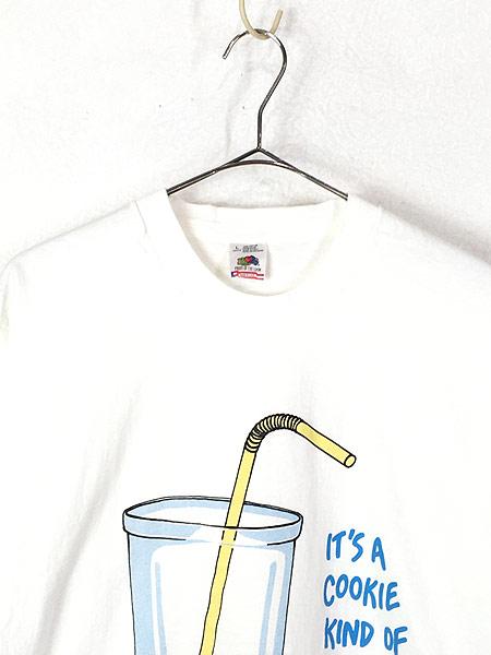 [2] 古着 90s USA製 「IT'S A COOKIE KIND OF DAY」 ネズミ クッキー Tシャツ L 古着