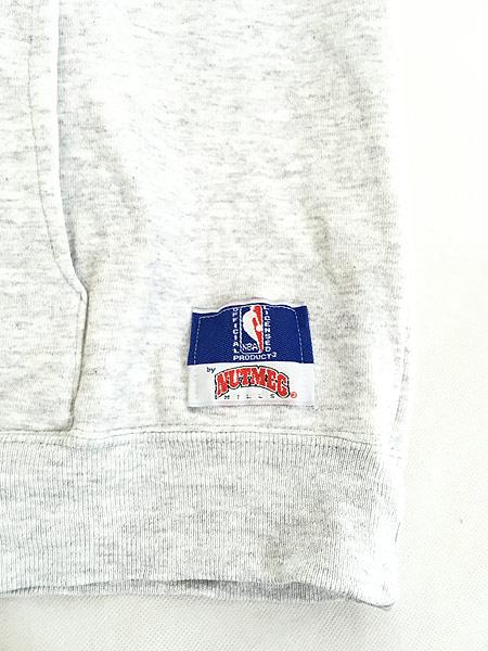 [6] 古着 90s USA製 NBA CHICAGO BULLS ブルズ パッチ スウェット パーカー L位 古着