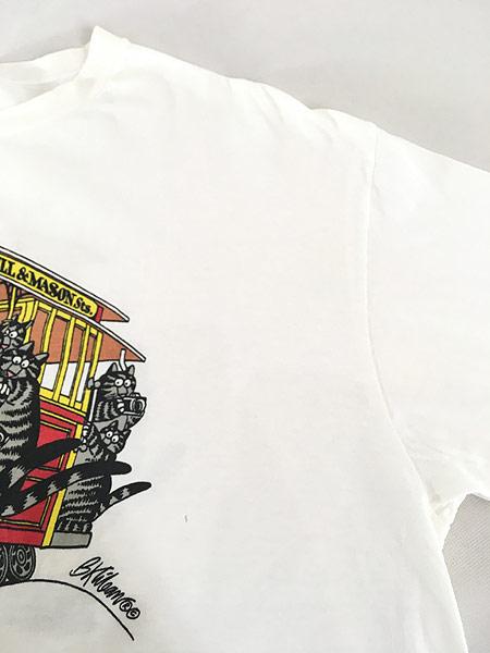 [5] 古着 90s USA製 Crazy Shirts Hawaii ケーブルカー クリバンキャット Tシャツ XL 古着