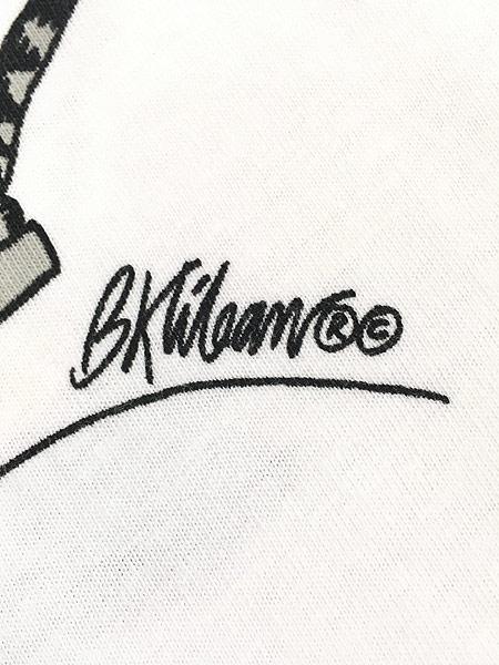 [7] 古着 90s USA製 Crazy Shirts Hawaii ケーブルカー クリバンキャット Tシャツ XL 古着