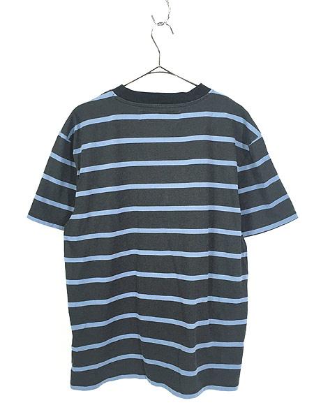 [3] 古着 GUESS ゲス ワンポイント 刺しゅう ボーダー Tシャツ S 古着