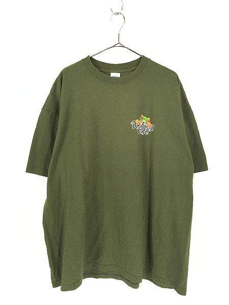 [1] 古着 Rainforest Cafe 「ORLANDO」 ワンポイント BIG Tシャツ XXL 古着