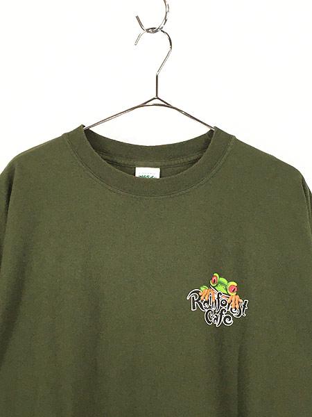 [2] 古着 Rainforest Cafe 「ORLANDO」 ワンポイント BIG Tシャツ XXL 古着