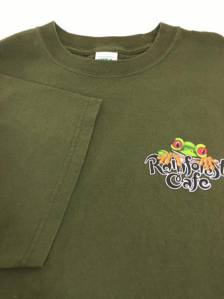 [4] 古着 Rainforest Cafe 「ORLANDO」 ワンポイント BIG Tシャツ XXL 古着