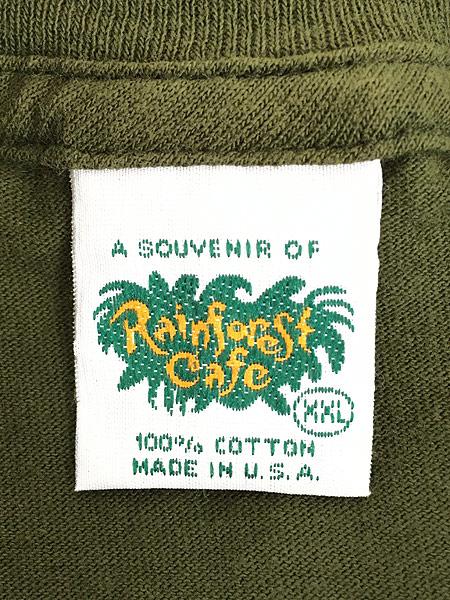 [5] 古着 Rainforest Cafe 「ORLANDO」 ワンポイント BIG Tシャツ XXL 古着