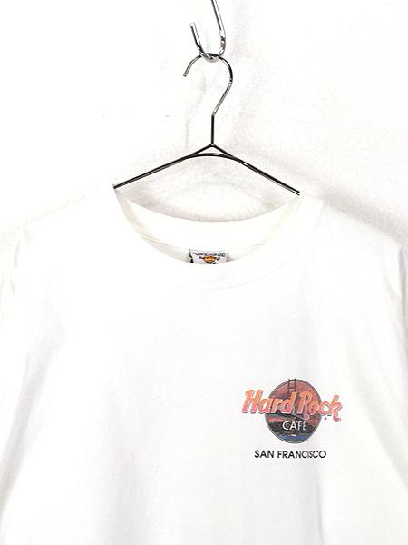 [2] 古着 90s USA製 Hard Rock Cafe 「SAN FRANCISCO」 ハードロック Tシャツ XL 古着