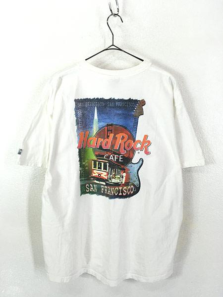 [3] 古着 90s USA製 Hard Rock Cafe 「SAN FRANCISCO」 ハードロック Tシャツ XL 古着