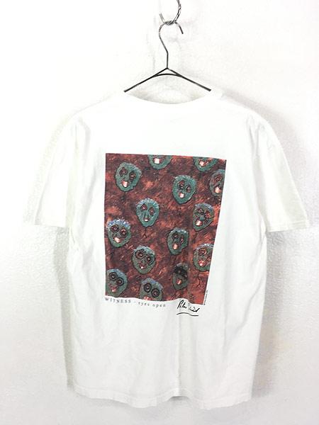 [3] 古着 90s USA製 Hard Rock Cafe 「Peter Gabriel」 シグネチャー ハードロック Tシャツ M 古着