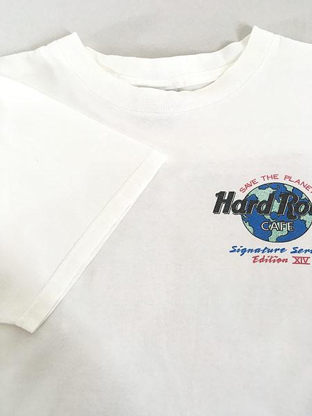 [4] 古着 90s USA製 Hard Rock Cafe 「Peter Gabriel」 シグネチャー ハードロック Tシャツ M 古着
