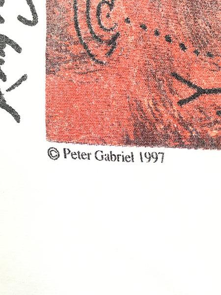 [5] 古着 90s USA製 Hard Rock Cafe 「Peter Gabriel」 シグネチャー ハードロック Tシャツ M 古着