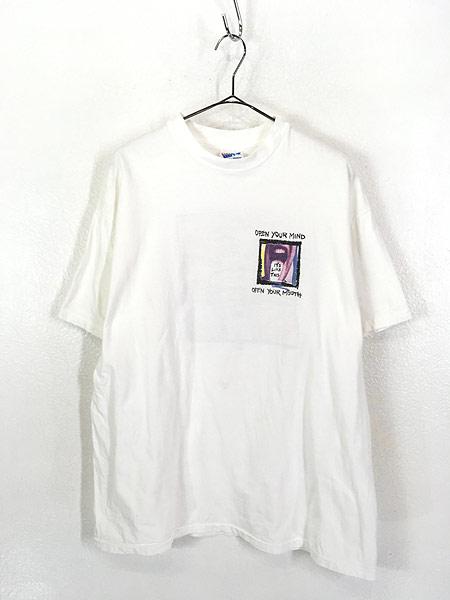 [1] 古着 90s USA製 PEPSI 「OPEN YOUR MIND」 ペプシ コーラ アート Tシャツ XL 古着