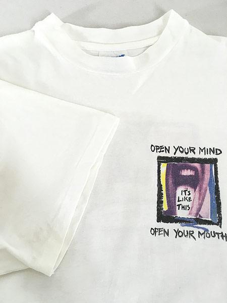 [4] 古着 90s USA製 PEPSI 「OPEN YOUR MIND」 ペプシ コーラ アート Tシャツ XL 古着