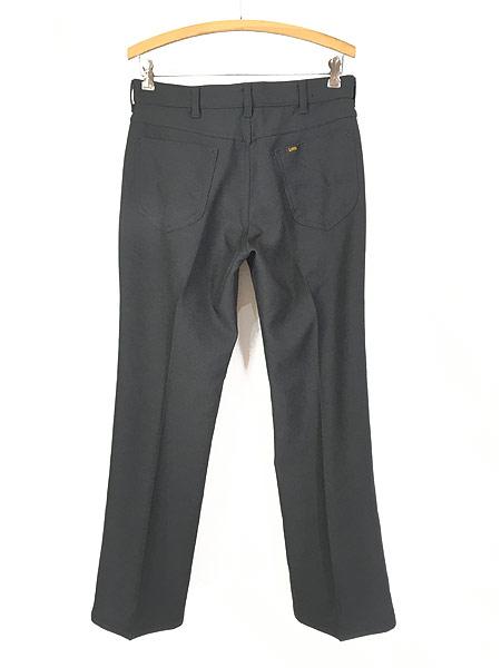 [3] 古着 70s USA製 Lee 201-0801 ブラック スラックス パンツ ブーツカット 黒 W31 L30 古着