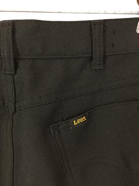 [4] 古着 70s USA製 Lee 201-0801 ブラック スラックス パンツ ブーツカット 黒 W31 L30 古着